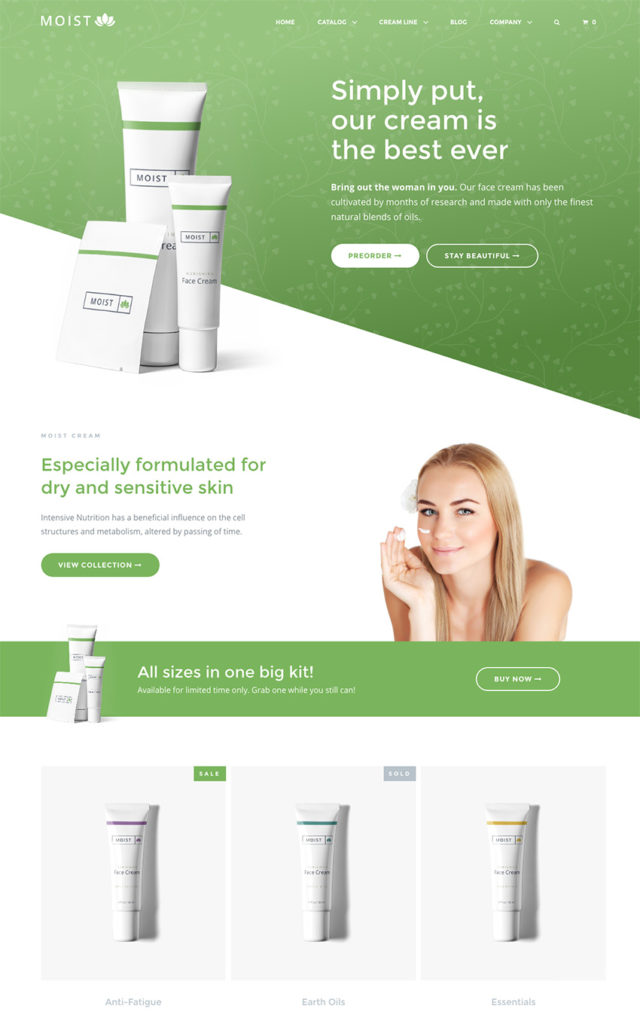Top Bootstrap Single Product ECommerce Website Templates - Single product ecommerce template