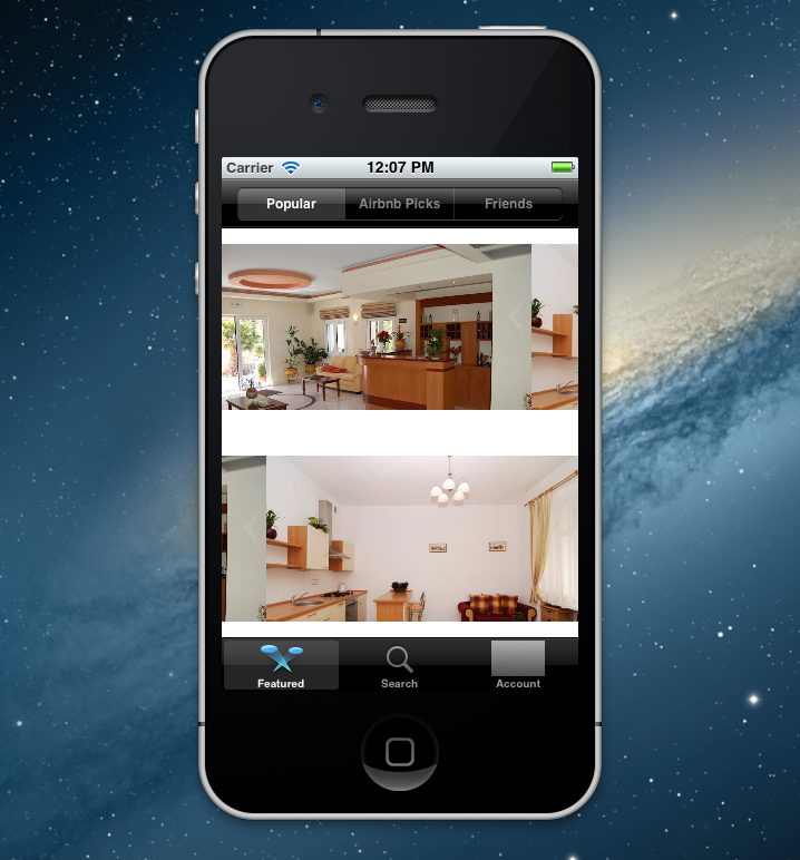 how to take a photo with the air bnb app